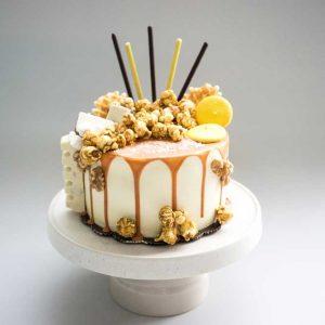 Walnut Caramel White Cake