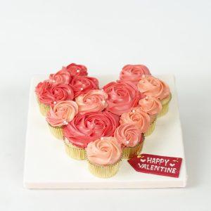 Valentine cupcakes bouquet